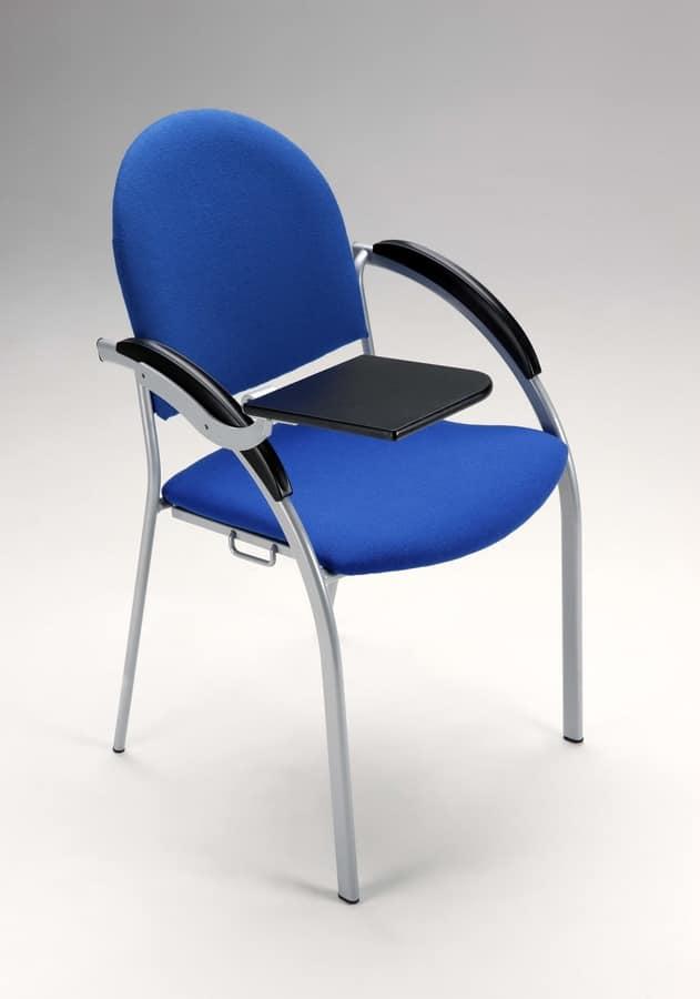 Beba, Metallpolsterstuhl für Konferenzen und Tagungen