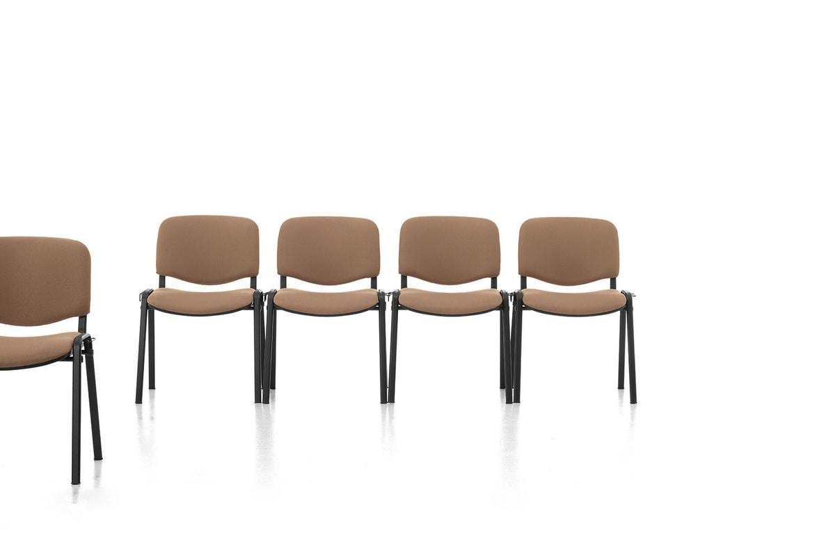 Leo 01, Gepolsterte Büro einfachen Stuhl, Metallsockel