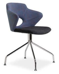 Marala G, Sessel mit 4-Speichen-Sockel und Sitz in Stoff beschichtet