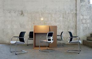 Omnia White Plus 05, Bürostuhl mit Freischwingergestell