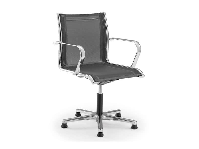 Origami RE guest 70235, Bürostuhl auf Rollen, mit Sitz und Rückenlehne in Maschen