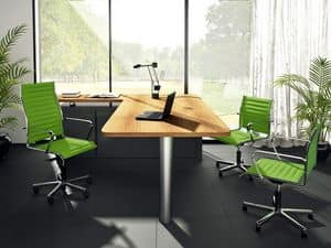 Origami TD guest 70035, Sessel für Büro, Struktur aus verchromtem Stahl