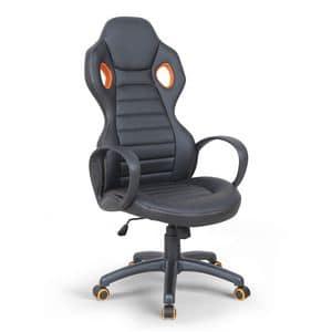 Präsidentensessel Rennsport-Spielsessel - SU092RAC, Liegestuhl aus Kunstleder mit Armlehnen