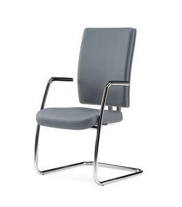 PROGRESS, Gast Stuhl für Büro in Leder