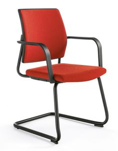 Q44, Gepolsterter Stuhl mit Kufengestell