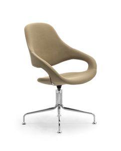 Samba Plus Krake, Gepolsterter Stuhl mit Drehsockel mit 4 Speichen