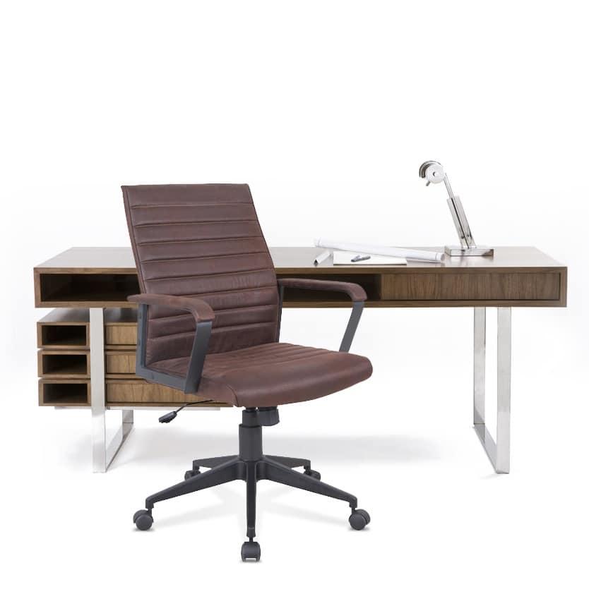 Ergonomischer Stuhl Mit öko Leder Robust Für Büro Idfdesign