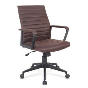 Sessel ergonomischer Bürostuhl Kunstleder, Ergonomischer Stuhl mit Öko-Leder, robust, für Büro