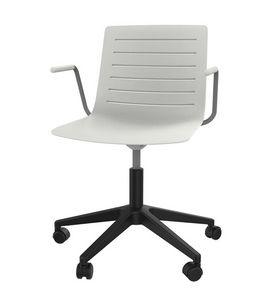 Slim 04A, 5-Speichen-Stuhl mit verstärkter Polypropylen-Schale