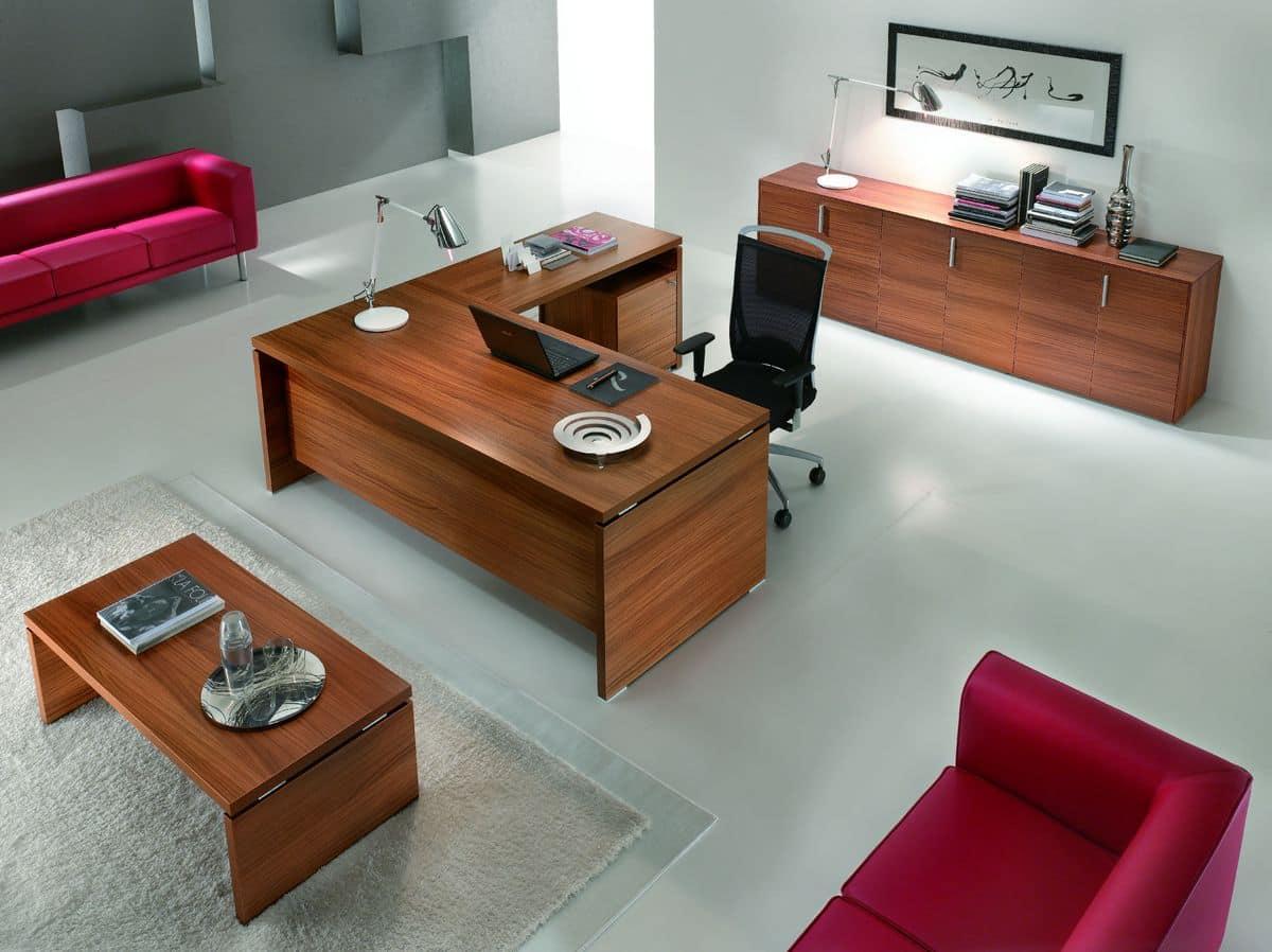 elegante m bel f r direktionsb ros moderner stil idfdesign. Black Bedroom Furniture Sets. Home Design Ideas