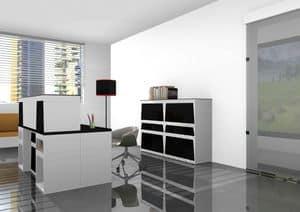 Reception, Modular Laminat Schreibtisch für operative Büro