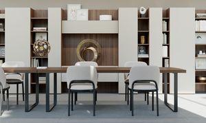 GEORGE rectangular, Rechteckiger Tisch mit klarem Design, für Office