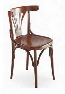 Strauss, Stuhl in gebogenem Holz, Wiener Art