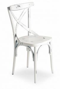 V15, Stuhl mit Kreuzrückenlehne