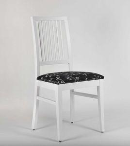 320, Lackierter Stuhl mit gepolsterter Sitzfläche