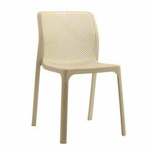 Anti UV stapelbar Bar und Garten Küchenstühle NET - SN708PP, Stapelbarer Stuhl aus widerstandsfähigem Polypropylen