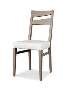 Art. 195/S, Moderner Esszimmerstuhl mit gepolsterter Sitzfläche