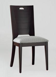 BS132S - Stuhl, Stuhl aus massivem Buchenholz