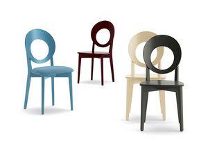 Eggy 10028, Stuhl mit perforierter runder Rückenlehne
