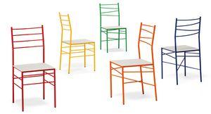 Ginger, Feuerbeständiger Stuhl mit Leder- oder Filzsitz