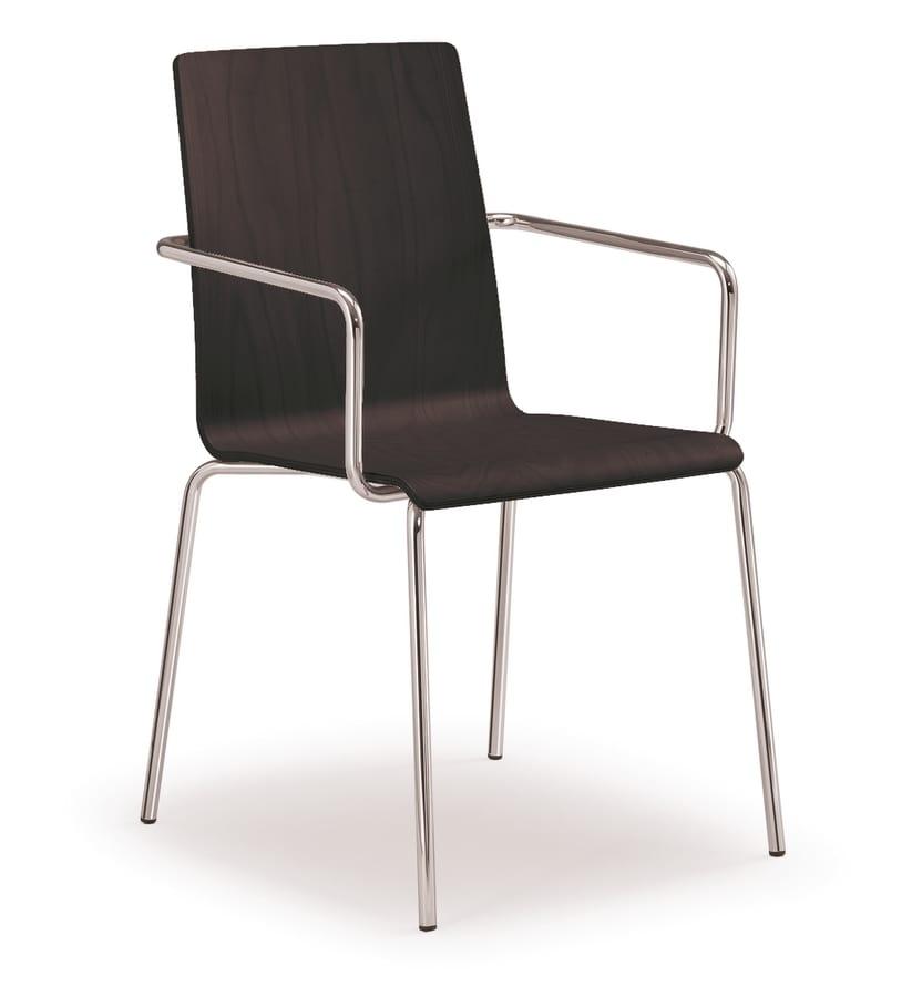 PL 509, Stapelbarer Stuhl mit Holzschale