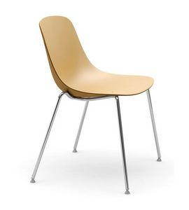 Pure Loop, Stuhl mit Beinen aus verchromtem Stahl