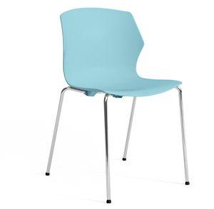 SALLY S, Stuhl aus Kunststoff und Metall mit Armlehnen