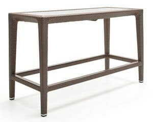 Altea tisch, Stehtisch in gewebte Faser, Aluminium-Rahmen