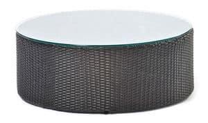 Arena Beistelltisch, Round niedrigen Tisch, gewebt, für Schwimmbäder