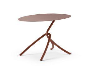 ART. 0126 SKIN COFFE TABLE, Kleiner Metalltisch, auch für den Außenbereich