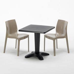 tisch und b nke mit verriegelungsmechanismus beine idfdesign. Black Bedroom Furniture Sets. Home Design Ideas