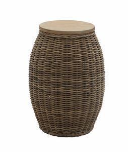 Bango Bongo 0470, Hocker - Couchtisch, gewebt, rund