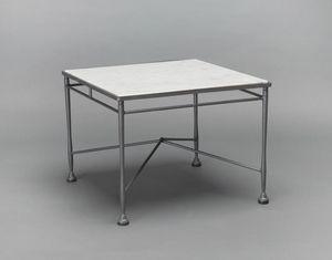 INTRECCIO GF4004TAS, Gartentisch aus Eisen und Marmor