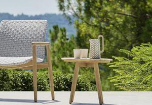 Lapis Tabelle, Runder Teak Tisch für den Außenbereich