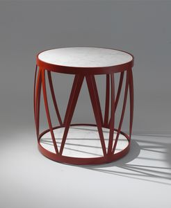 ZIG ZAG GF4023CT-RO, Runder Tisch mit Marmorplatte