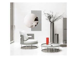 A.Round, Schwenken kleinen Tisch für das Wohnzimmer, in Holz und Stahl