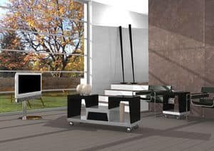 tv st nder sockel mit schubladen mit push pull ffnung. Black Bedroom Furniture Sets. Home Design Ideas