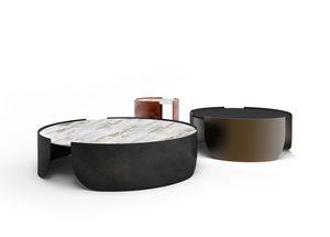 Atenæ Couchtisch, Runder Tisch mit minimalem Design