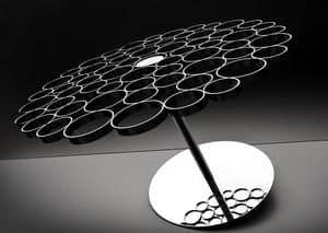 Bubble, Stahl und Glas Couchtisch, originelles Design von oben