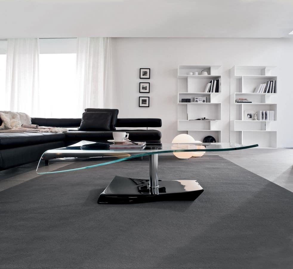 couchtisch aus gebogenem glas marmor und metall suite. Black Bedroom Furniture Sets. Home Design Ideas