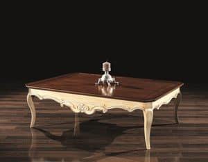 PATRIK couchtisch 8683T, Dekorative kleinen Tisch, in Holz, mit klassischen Stil