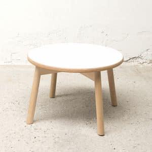 Runde kleinen Tisch Bolz, Tisch für Mittelraum, Laminat, einfache Art