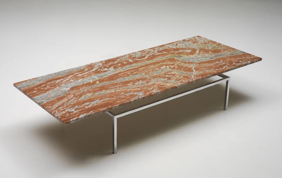 sa29 moderne couchtisch mit carrara marmorplatte f r. Black Bedroom Furniture Sets. Home Design Ideas