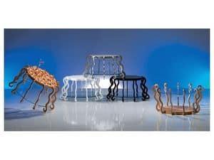TL31 TL32 Medusa, Original-Tabelle auf den Kopf gestellt werden, mit Einlegearbeiten aus Holz