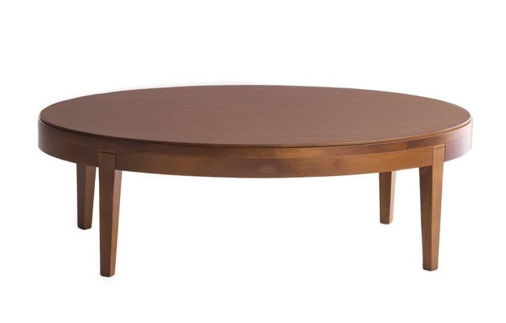 Ovaler Beistelltisch : Small Wood Oval Coffee Tables