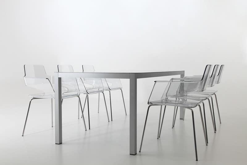 B32 4L, Stuhl mit Nylonhülle, modernes Design, Metallsockel