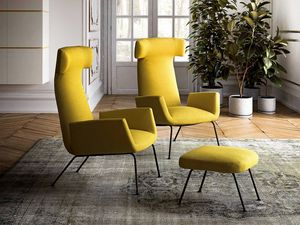 Poltrone Moderne Design : Moderne sessel in leder oder stoff idfdesign