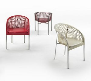 Elektra, Stuhl mit zweidimensionaler Textur in das Leder geschnitzt