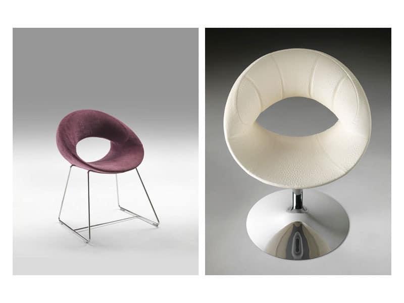 sessel mit metallstruktur schlitten oder s ulenbasis idfdesign. Black Bedroom Furniture Sets. Home Design Ideas