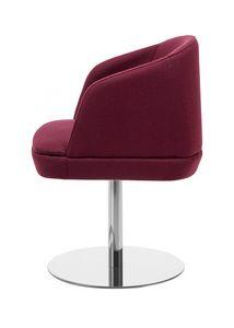 Noemi ARMS 1, Kleiner Sessel mit runder Metallbasis